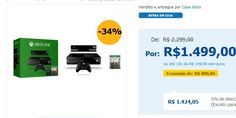 Console Xbox One 500GB  Kinect  Jogo Assassin's Creed Unity << R$ 137405 >>