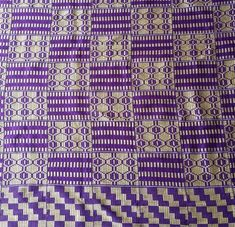 6 yards Ghana Kente/ original kente fabric / african fabric/ traditional kente/ handwoven kente/ purple kente/ original kente/ made to order