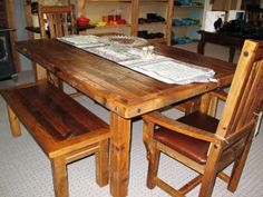 Barn Wood Farmhouse Table Reclaimed Barn Wood, Farmhouse Table, Dining Room Furniture, Lodges, Southern, Rustic, Home, Country Primitive, Cabins