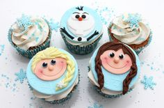 Let it go! Frozen-inspired cupcakes- http://www.pinterest.com/victoriouscakes/my-cupcakes-of-the-week/