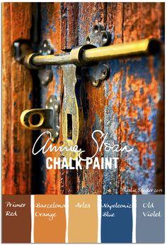 Annie Sloan Krijtverf en Annie Sloan Workshops http://www.debestekrijtverf.nl  | COLORWAYS Color theory contrasts in Annie Sloan colors
