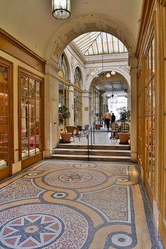 Galerie Vivienne | Paris Beautiful Paris, I Love Paris, Paris Travel, France Travel, Galerie Vivienne, French Images, Grand Paris, Ville France, Terrazzo Flooring