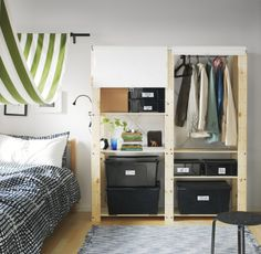 GORM shelving units-simple and hardworking storage for any room. Leave it looking fresh in unfinished pine and spruce, or paint it to match your decor.