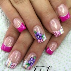 70 Trendy Spring Nail Designs are so perfect for this season Hope they can inspire you and read the article to get the gallery. Perfect Nails, Gorgeous Nails, Pretty Nails, Wow Nails, Nails Only, Simple Nail Art Designs, Nail Designs Spring, New Nail Art, Cute Nail Art