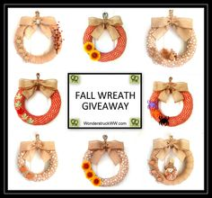 Fall Burlap Wreath Giveaway Open to: United States  Ending on: 09/15/2014