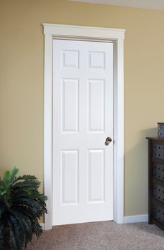 4 Panel White Interior Doors Interior Door In Raised 6 Panel Door . - June 13 2019 at Shaker Interior Doors, Farmhouse Interior Doors, White Interior Doors, Interior Door Styles, Painted Interior Doors, Door Design Interior, White Doors, Interior Panel Doors, Interior Decorating