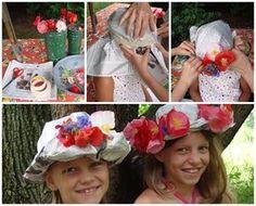 Sombreros de papel para niñas, fiestas infantiles