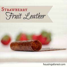 Oven Dried Fruit Leather ~ Simple recipe that so easy to make.  It makes the perfect snack for on the go and in school lunches.