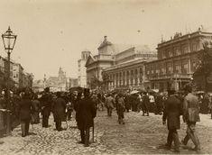 Mieszkańcy Warszawy na Krakowskim Przedmieściu, fot. Karol Beyer (ok. 1895)