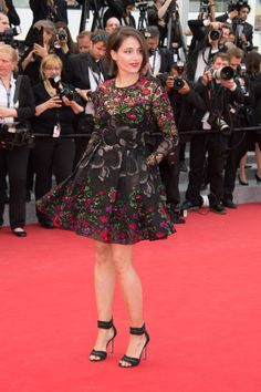 Marie Gillain in Elie Saab. See all the best looks from the 2015 Cannes Film Festival.