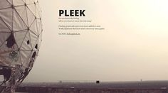 pleek.fm in 25 Creative Coming Soon Pages