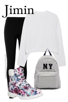 BTS BASKETBALL DATE JIMIN by bangtanoutfits on Polyvore featuring polyvore fashion style Acne Studios Max Studio Timberland Joshua's clothing kpop bts BangtanBoys bangtan jimin