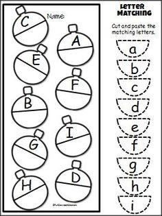 Ecco un'idea natalizia per insegnare la corrispondenza del corsivo maiuscolo-minuscolo: comportamento di pianificazione di #Feuerstein