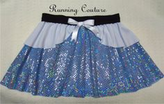 Cinderella inspired  blue sparkle and white shimmery  Running Misses Round circular skirt .  costume  skirt for dance, skating, running by RunningCouture on Etsy https://www.etsy.com/listing/176727911/cinderella-inspired-blue-sparkle-and