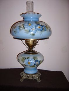 Wonderful Smiling Sally Is Hosting Blue Monday. Iu0027m Sharing My Blue Hurricane Lamp.