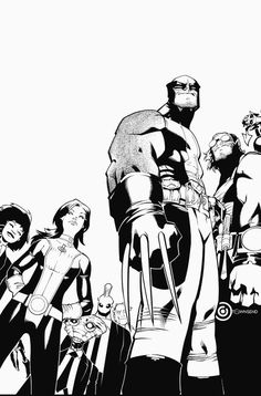 Wolverine and the X-Men Vol.1 #1 cover in black and white by Chris Bachalo