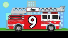 """Learn Numbers Fire Truck #1 - """"Count to 10"""" Firetrucks Animation for Kid..."""