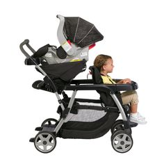 graco toddler and infant double stroller | This double stroller is compatible with all Graco Click Connect infant ...
