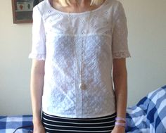 McCalls 6355 - white broderie top