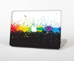 """The Rainbow Paint Spatter Skin Set for the Apple MacBook Air 13"""" from Design Skinz, INC."""