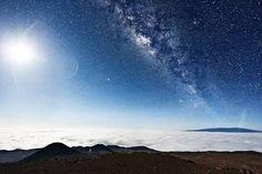 The Milky Way from the top of Mauna Kea, Hawaii
