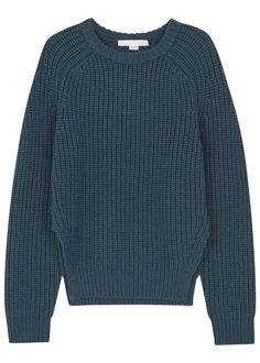 Alexander Wang teal chunky knit wool jumper