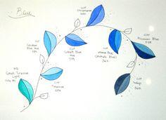#blue #watercolor pallete