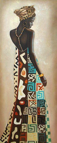 Kunst Bilder ideen - Femme Africaine III by Jacques Leconte - Beste Art Pins Black Girl Art, Black Women Art, Afrique Art, African Art Paintings, Kunst Poster, Black Artwork, Afro Art, African American Art, Female Art