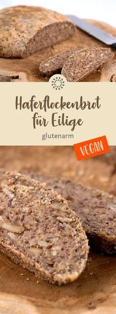 Unser kerniges Haferflockenbrot ist ein wunderbares Brot für jeden Tag. Der Teig besteht aus Haferflocken, Sonnenblumenkernen, Leinsamen und Walnüssen. Probiert es aus und überzeugt Euch selbst! #rezept #vegan #hafer #brot