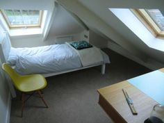 A office,  a bedroom, space for your thoughts, Eames DSW, stroller desk, Cornwall cottage