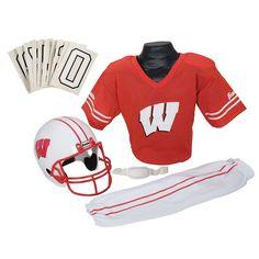 Franklin Wisconsin Badgers Football Uniform, Boy's, Size: Medium, Multicolor