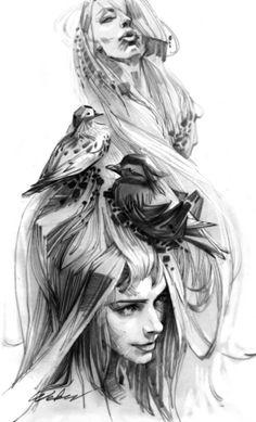 Замечательные рисунки Zhang Weber