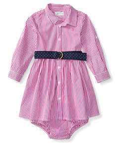 Bengal-Striped Dress & Bloomer - Baby Girl Dresses & Rompers…