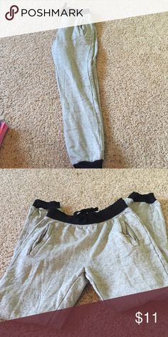 Grey and Black Joggers Never worn! Junior boys small but fits like a women's small! Pants Track Pants & Joggers
