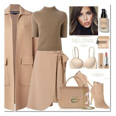 """#wrapskirt"" by katymill ❤ liked on Polyvore featuring Michael Antonio, Rochas, Bobbi Brown Cosmetics, CÉLINE, Theory, Furla and Hollister Co."