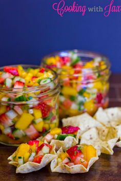 Strawberry Mango Salsa - an incredibly refreshing salsa perfect for any get together.