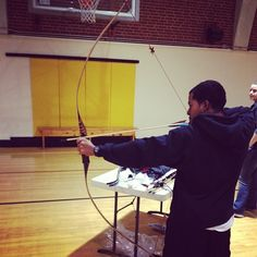 Anthony at full draw with his custom themed longbow by spartanhunter #Padgram