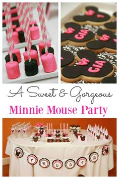 Minnie Mouse Party Are you looking for some Minnie Mouse birthday party ideas? This delightful party held for a birthday is sweet in every way. From delicious food to delightful decoration, this is a Minnie Mouse party that any little girl is going to Minnie Mouse Party, Mouse Parties, Pink Minnie, 1st Birthday Parties, Girl Birthday, Birthday Ideas, Dream Party, Partys, Diy Party Decorations