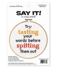 Loving this 'Try Tasting Your Words' Needlecrafts Kit on #zulily! #zulilyfinds