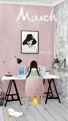 Cute Illustration, Watercolor Illustration, Cute Wallpapers, Wallpaper Backgrounds, Stock Design, Couple Painting, Calendar Wallpaper, Couple Wallpaper, Cartoon Wallpaper