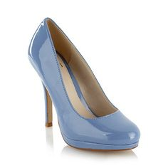 Faith Pale blue patent high heel court shoes- at Debenhams.ie