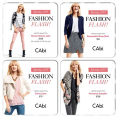 Want exclusive access to CAbi Spring 2015?  Now booking shows for February, book your show to choose one of these pieces at half-price!! rhonda-pandorf@hotmail.com www.rhondapandorf.cabionline.com