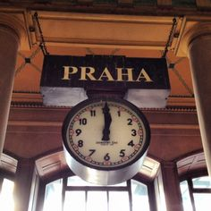 Praha Clock, Prague Main Train Station, Prague, The Czech Republic