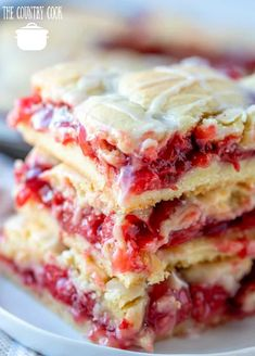 These cherry pie bars are tasty and pretty! A homemade dessert that is easy to make and slices up and serves perfectly! Use your favorite pie fillings! Homemade Cherry Pies, Homemade Desserts, Easy Desserts, Dessert Recipes, Bar Recipes, Homemade Pie, Health Desserts, Recipies, Homemade Breads
