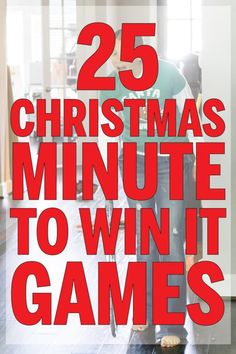 25 Hilarious Christmas Minute to Win It Games Funny Christmas games ever! Perfect for family games, for kids, or even for adults! Over 25 different minute to win it games for parties! Minute To Win It Games Christmas, Funny Christmas Party Games, Christmas Party Games For Adults, Xmas Games, Christmas Games For Family, Holiday Games, Christmas Humor, Christmas Ideas, Xmas Party