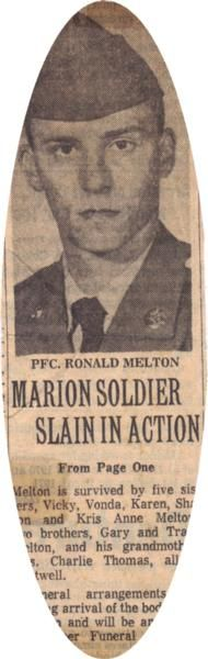 Virtual Vietnam Veterans Wall of Faces | RONALD D MELTON | ARMY
