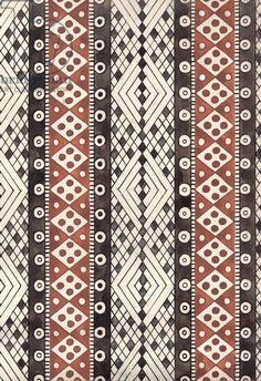 Sketch for Textile Design, 1960s (gouache on paper)