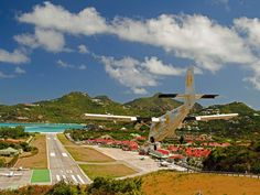 St. Barths airport. Git those goats outta there.