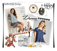 """""""Live happy :)"""" by red-rose-girl ❤ liked on Polyvore featuring Olive & Pique, Three Sisters Apothecary, women's clothing, women, female, woman, misses, juniors and knittedbelle"""