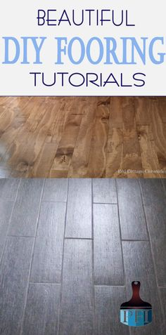 Check out these ideas for DIY flooring!  You can save so much money!